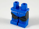 Part No: 970c11pb46  Name: Minifigure, Legs with Hips - Black Legs with Blue Boots, Blue Leotard, Chevron Boots Edges Pattern