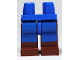 Part No: 970c88pb02  Name: Hips and Reddish Brown Legs with Avatar Blue Rectangles Pattern