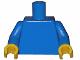 Part No: 973c07  Name: Torso Plain / Blue Arms / Yellow Hands