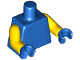 Part No: 973c56  Name: Torso Plain / Yellow Arms / Blue Hands