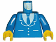Part No: 973p18c01  Name: Torso Suit and Tie Pattern / Blue Arms / Yellow Hands