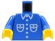 Part No: 973p26c01  Name: Torso Patch Pocket Shirt Pattern / Blue Arms / Yellow Hands