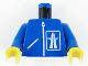 Part No: 973p27c01  Name: Torso Highway Pattern / Blue Arms / Yellow Hands