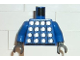 Part No: 973pb0083c02  Name: Torso Soccer Goalie Studded Armor on Front and No. 1 on Back Pattern / Blue Arms / Black Hands