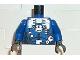 Part No: 973pb0116c01  Name: Torso Aquazone Hydronaut Silver Diving Pattern 3 / Blue Arms / Black Hands