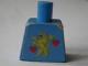 Part No: 973pb0152  Name: Torso Castle Guard Lion Standing Yellow and 2 Red Hearts Pattern (Sticker) - 1592