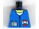 Part No: 973pb0237  Name: Torso Rescue Coast Guard Logo, Name Tag, White Collar, Zipper Pattern
