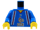 Part No: 973pb0279c01  Name: Torso Soccer French Team with Rooster Logo Pattern / Blue Arms / Yellow Hands