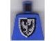 Part No: 973pb0297  Name: Torso Castle Black Falcon Pointier Bottom Shield 1st Reissue Pattern