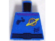 Part No: 973pb0689  Name: Torso Space Ringed Planet and Black Belt, Dirt Stains Pattern