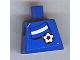 Part No: 973pb0819  Name: Torso Soccer Blue/White Team, Argentinian Flag Sticker Front, Black Number Sticker Back (specify number in listing)