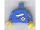Part No: 973pb0819c01  Name: Torso Soccer Blue/White Team, Argentinian Flag Sticker Front, Black Number Sticker Back (specify number in listing) / Blue Arms / Yellow Hands