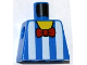 Part No: 973pb0947  Name: Torso White Vertical Stripes and Red Bow Tie Pattern