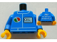 Part No: 973pb1163c01  Name: Torso Octan Logo and OIL Front, 2012 The LEGO Store Overland Park, KS Back Pattern / Blue Arms / Yellow Hands