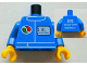 Part No: 973pb1175c01  Name: Torso Octan Logo and OIL Front, 2011 The LEGO Store Woodlands, TX Back Pattern / Blue Arms / Yellow Hands