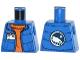 Part No: 973pb1709  Name: Torso Down Vest with ID Badge over Orange Sweater, Arctic Explorer Logo on Reverse Pattern