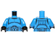 Part No: 973pb1845c01  Name: Torso SW Armor Clone Trooper with Belt with Pockets Pattern (Senate Commando) / Blue Arms / Black Hands