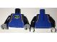 Part No: 973pb2538c01  Name: Torso Batman Wetsuit with Black and Orange Trim, Batman Logo Pattern / Black Arms / Light Bluish Gray Hands