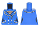Part No: 973pb2599  Name: Torso Batman Female Outline Suit with Lapels, Pockets, Buttons and Pearl Necklace Pattern
