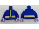 Part No: 973pb2753c01  Name: Torso Coat with Gold Center Seam and Wide Gold Belt Pattern / Blue Arms / Lavender Hands