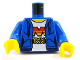 Part No: 973pb3015c01  Name: Torso Female Hoodie with Laces and Pockets over White Shirt with M:Tron Logo Pattern / Blue Arms / Yellow Hands
