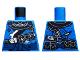 Part No: 973pb3262  Name: Torso Ninjago Armor Tattered with Dark Blue Sash Pattern