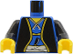 Part No: 973pn1c01  Name: Torso Castle Ninja Samurai Robe, Sash and Dagger Pattern (Shogun) / Black Arms / Yellow Hands