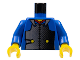 Part No: 973px12c01  Name: Torso Castle Ninja Armor Plate, Red Collar Pattern (Samurai) / Blue Arms / Yellow Hands