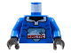 Part No: 973px140c01  Name: Torso Arctic Logo Large on Open Collar Pullover Pattern / Blue Arms / Black Hands