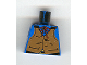 Part No: 973px162  Name: Torso Western Cowboy Brown Vest, Buckle, String Bow Tie Pattern
