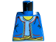 Part No: 973px182  Name: Torso Adventurers Orient Vest, Light Blue Shirt, Yellow Rope Belt Pattern