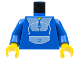 Part No: 973px2c01  Name: Torso Blue Jogging Suit Pattern / Blue Arms / Yellow Hands