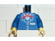 Part No: 973px63c01  Name: Torso Train Jacket and Red Scarf Pattern / Blue Arms / Yellow Hands