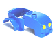 Part No: 98212pb01  Name: Duplo Car Body Tractor with One Stud on Hood and Yellow Headlights Pattern