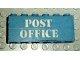 Part No: BA003pb04  Name: Stickered Assembly 6 x 1 x 2 with 'POST OFFICE'' Pattern (Sticker) - Set 1589 - 2 Bricks 1 x 6