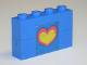 Part No: BA008pb12  Name: Stickered Assembly 4 x 1 x 2 with Pink and Yellow Heart Pattern (Sticker) - Set 275-1 - 2 Bricks 1 x 4