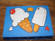 Part No: BA012pb04  Name: Stickered Assembly 6 x 1 x 3 with Ice Cream Pattern (Sticker) - Set 3665 - 3 Bricks 1 x 6