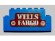 Part No: BA026pb02  Name: Stickered Assembly 8 x 1 x 3 with 'WELLS FARGO' Pattern (Sticker) - Set 365 - 2 Bricks 1 x 8, 1 Brick 1 x 6