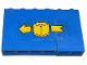 Part No: BA122pb01R  Name: Stickered Assembly 6 x 1 x 3 with Yellow Box and Arrow Pattern Model Right Side (Sticker) - Set 6361 - 1 Panel 1 x 4 x 3 - Solid Studs, 1 Panel 1 x 2 x 3 - Solid Studs