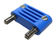 Part No: bb0093bc01  Name: Electric, Connector, 2-Way Male Rounded Wide Long with Cross-Cut Pins
