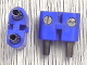 Part No: bb0236ac01  Name: Electric, Connector, 2-Way Male Rounded Narrow Type 2 with Hollow Pins