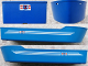 Part No: bfloat3c01pb03  Name: Boat, Hull Unitary 38 x 10 x 5 2/3 with Coast Guard Logo Pattern on Both Sides and Back (Stickers) - Set 4022