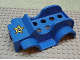 Part No: dupcarbody08  Name: Duplo Car Body Racer with Smiling Star / Starfish Pattern (fits over Car Base 2 x 6)