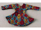 Part No: scl013  Name: Scala, Clothes Female Dress with Long Sleeves and Red/Yellow Circles Pattern