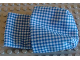 Part No: sleepbag01  Name: Duplo Cloth Sleeping Bag with Blue and White Checkered Pattern