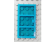 Part No: x39c04  Name: Door 1 x 4 x 6 with 3 Panes with Trans-Dark Blue Glass