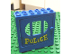 Part No: x610c04px1  Name: Fabuland Door Frame 2 x 6 x 5 with Blue Door with 'POLICE' Pattern (Sticker) - Sets 140-1 / 350-3