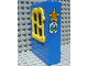 Part No: x637c02pb05  Name: Fabuland Building Wall 2 x 6 x 7 with Squared Yellow Window with Sheriff Badge and No 64 Pattern (Sticker) - Set 3664