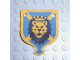 Part No: x95px1  Name: Cloth Hanging 4 x 5 with Knights Kingdom Lion Head Pattern