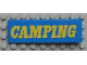 Part No: x979px4  Name: Duplo Door 1 x 4 x 1 with Yellow CAMPING Pattern
